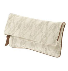 Bslaine Printed Lace Clutch
