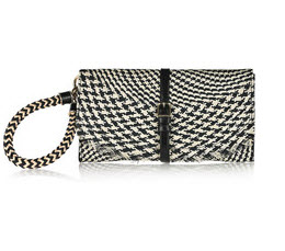 Burberry houndstooth clutch