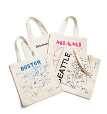 Canvas Map Tote