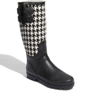 Chookah houndstooth rain boots