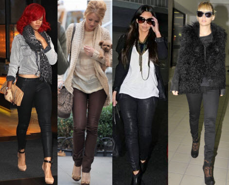 Coated Leggings Celebrity