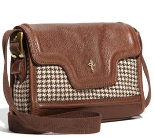 Cole Haan houndstooth clutch