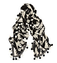 DVF Houndstooth scarf