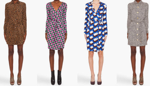 Dvf Wrap Dresses On Sale Large Editorial Image
