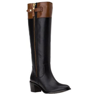 Diane von Furstenberg two toned riding boots