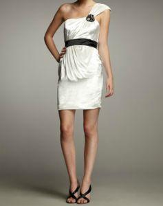 Hoagland New York One Shoulder Velvet Dress