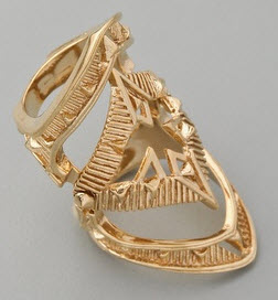 House of Harlow Armour claw ring