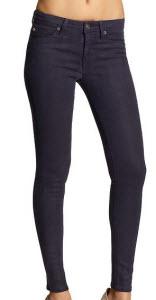 Hudson Mid Rise Super Skinny Coated Jeans