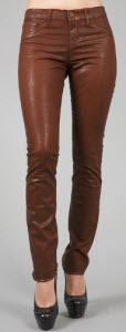J Brand Low Rise Turbulent Coated Skinny In Clay
