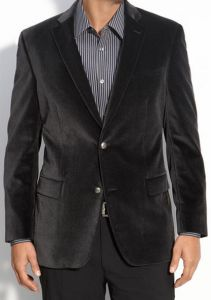 John Varvatos Star USA Orer Trim Fit Velvet Sportcoat
