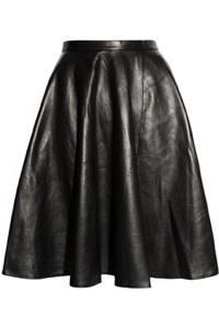 Kelly Bergin Leather circle skirt