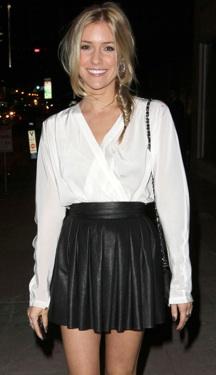 Kristin Cavallari Leather Mini