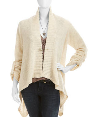 Laurie Belle creme knit cardigan
