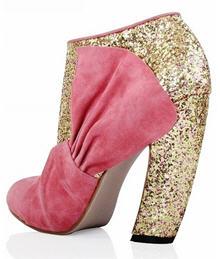 15acce8e6097 The original Miu Miu Glitter And Suede Ankle Booties ...