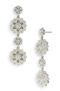 Nadri 'Vintage Lace' Floral Drop Earrings