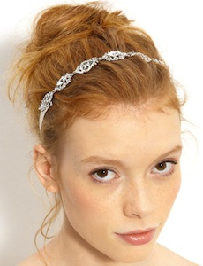 Nina Crystal Ribbon Head Wrap