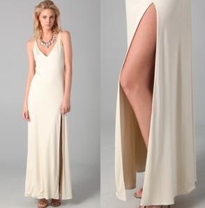 Olcay Gulsen High Slit Dress