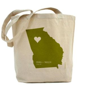 Personalized State Cotton Canvas Totes