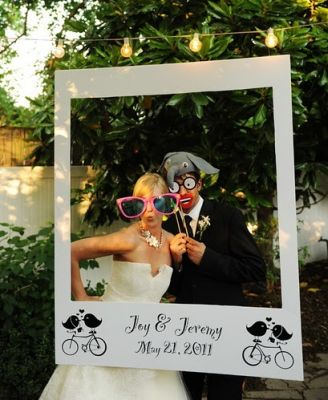Wedding Photo Props | Oversize Polaroid Frame | Unique Wedding Ideas