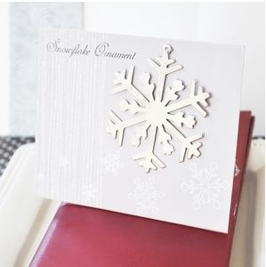 Silver Snowflake Ornament on Personalized Card