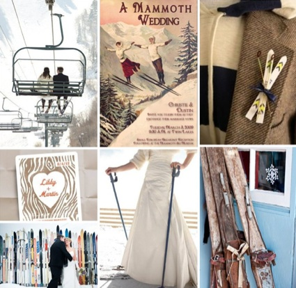 Ski themed wedding winter wedding decor snow wedding ideas for Snowboard decor