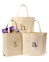 Small Initial Tote