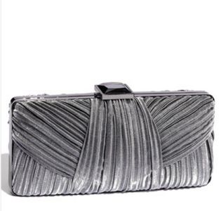Sondra Roberts Pleated Satin Clutch