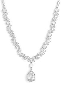 Tasha Cubic Zirconia Pear Drop Necklace