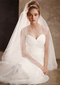 Soft Net Gown with Delicately Draped Bodice