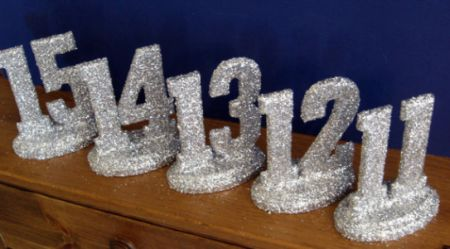 1-20 Wedding Party Table Numbers