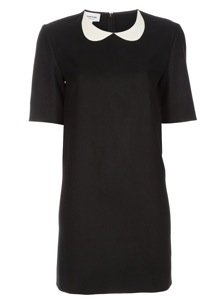 Boutique By Jaeger Frill Collar Velvet Dress