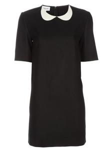 Boutique By Jaeger Frill Collar Velvet Dress