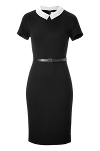 Jason Wu Black Belted Jersey Dress