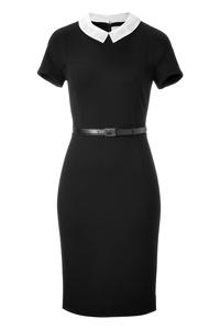 Jason Wu Black Belted Jersey Dress
