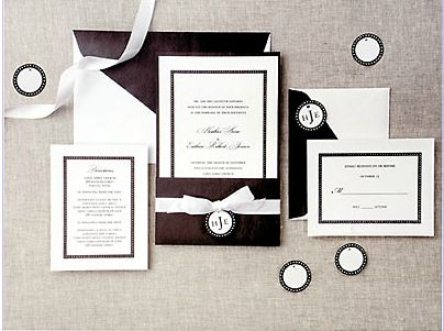 Classic Black White Pocket Printable Wedding Invitation Kit