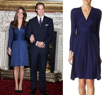 Kate Middleton S Blue Issa Engagement Dress Is Back But There Are Only 3 Left