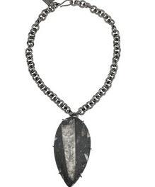 Kelly Wearstler gunmetal necklace