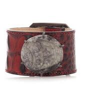 Kelly Wearstler leather and fossil bracelet