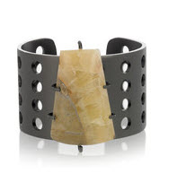 Kelly Wearstler perforated mineral cuff