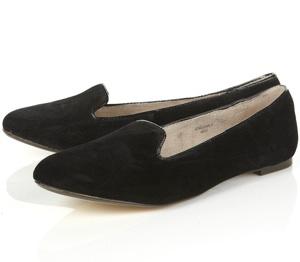 Manney Black Suede Slipper