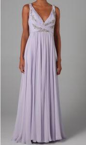 Marchesa V Neck Full Skirted Gown