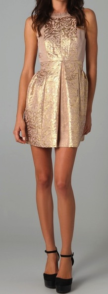 Metallic Jacquard Sleeveless Dress