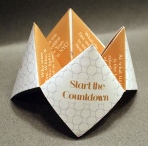 New Year's Eve Cootie Catcher Favors