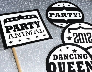 New Year's Eve DIY Photo Booth Props