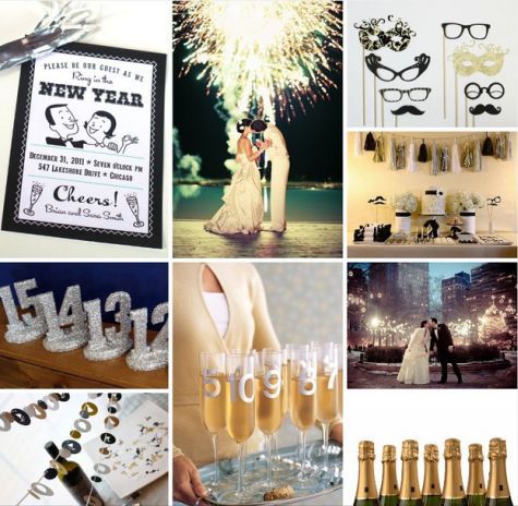 new years wedding new years eve decor. Black Bedroom Furniture Sets. Home Design Ideas