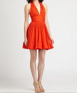 Notte by Marchesa Silk Halter Dress