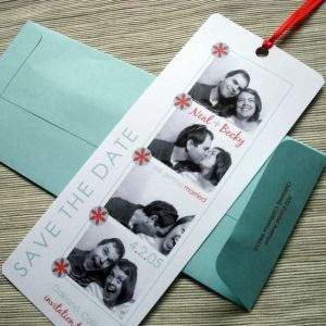 Photo Booth Save The Date Bookmarks