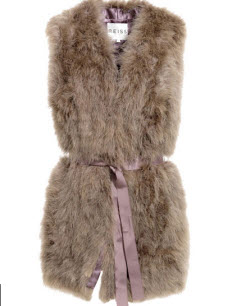 Reiss faux fur vest