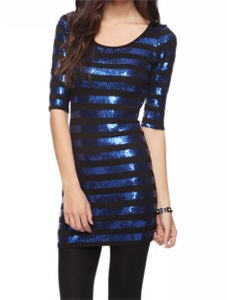 Sequin Striped Dress