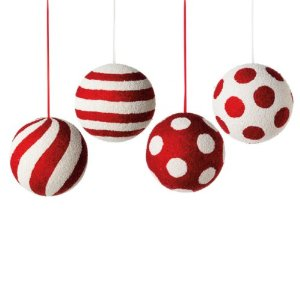 Peppermint twist red and white christmas ball ornaments 171 shefinds
